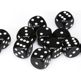 Chessex Dobbelsteen zwart 16 mm (per stuk)