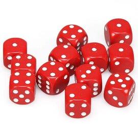 chessex Dobbelsteen rood 16 mm (per stuk)