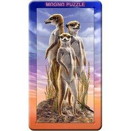 3D Magna puzzel - Meerkatten (32 stukjes)