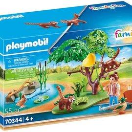 Playmobil Playmobil - Rode panda's in het buitenverblijf (70344)