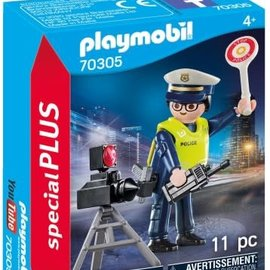 Playmobil Playmobil - Politieman met flitscontrole (70305)