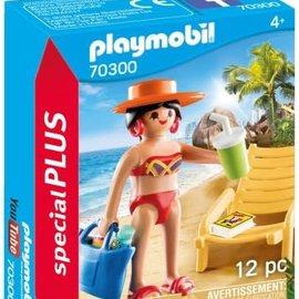 Playmobil Playmobil - Vakantieganger met strandstoel (70300)