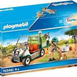 Playmobil Playmobil - Dierenverzorger met voertuig  (70346)