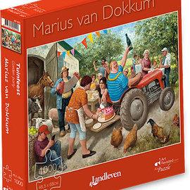 Art Puzzel Marius van Dokkum puzzel - Tuinfeest (1000 stukjes)