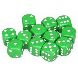 Chessex Dobbelsteen groen 16 mm (per stuk)