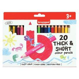 Bruynzeel Bruynzeel Kids 20 korte, dikke kleurpotloden