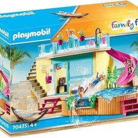 Playmobil Playmobil - Bungalow met zwembad (70435)