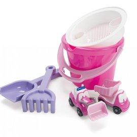 Dan Toy Emmerset met autootjes (6-delig/roze)