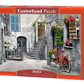 Castorland Castorland puzzel Charming Alley with Red Bicycle (500 stukjes)