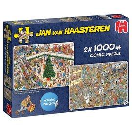 Jumbo Jan van Haasteren puzzel - Kerst koopjes + Black friday  (2 x 1000 stukjes)