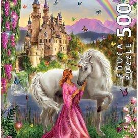 Educa Educa puzzel Fairy and Unicorn  (500 stukjes)