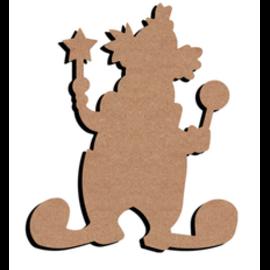 Hobbygroep MDF figuur - Clown (26 cm)