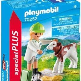 Playmobil Playmobil - Dierenarts met kalf (70252)