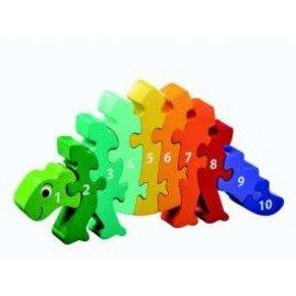 Lanka Kade Lanka Kade 1 tot 10 Puzzel dinosaurus