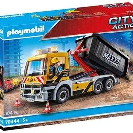Playmobil Playmobil - Vrachtwagen met wissellaadbak (70444)