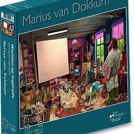Art Puzzel Marius van Dokkum puzzel - Wachten op inspiratie (1000 stukjes)
