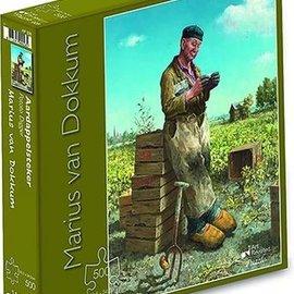 Art Puzzel Marius van Dokkum puzzel - De aardappelsteker (500 stukjes)