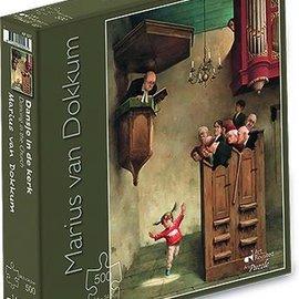 Art Puzzel Marius van Dokkum puzzel - Dansje in de kerk (500 stukjes)