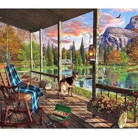 Wentworth Wentworth houten puzzel - Mountain Cabin - Dominic Davison (140 stukjes)