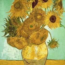 Wentworth Wentworth houten puzzel - Sunflowers, Vincent van Gogh (40 stukjes)