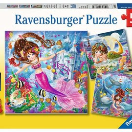 Ravensburger Ravensburger puzzel Betoverende zeemeerminnen (3x 49 stukjes)