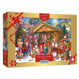 Gibsons Gibsons puzzel This way to Santa (1000 stukjes)