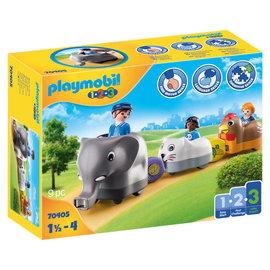 Playmobil Playmobil - 1.2.3 Dierentrein (70405)