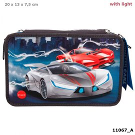 Monster cars Monster Cars 3-vaks etui gevuld met LED
