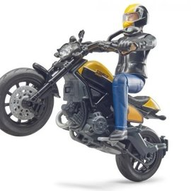 Bruder Bruder - BWorld Scrambler Ducati met speelfiguur 63053