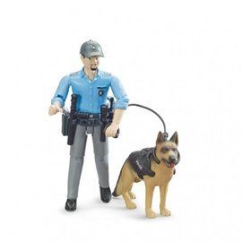 Bruder Bruder Bworld politie speelfiguur met hond