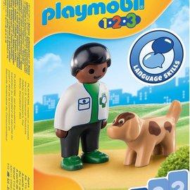 Playmobil Playmobil - 1.2.3 Dierenarts met hond (70407)