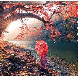 Educa Educa Zonsopgang op de Katsura Rivier, Japan (1000 stukjes)