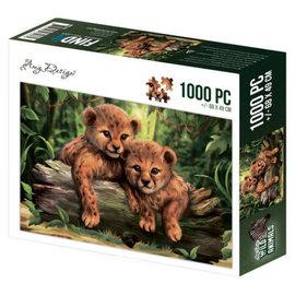 Amy Design puzzel - Wild Animals Cubs (1000 stukjes)
