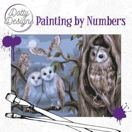 Dotty Designs Dotty Design schilderen op nummer - Amazing Owls 40 x 50 cm
