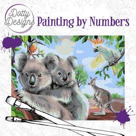 Dotty Designs Dotty Design schilderen op nummer - Wild Animals Outback 40 x 50 cm