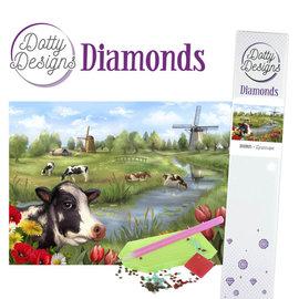 Dotty Designs Dotty Design Diamonds - Hollands landschap 29,7 x 42 cm