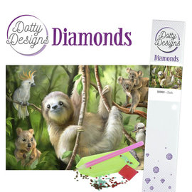 Dotty Designs Dotty Design Diamonds - Luiaard 29,7 x 42 cm