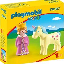 Playmobil Playmobil  1.2.3 Prinses en eenhoorn (70127)