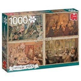 Jumbo Jumbo puzzel Anton Pieck - Livingroom Entertainment ( 1000 stukjes)