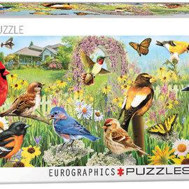 Eurographics Eurographics puzzel Garden Birds, Greg Giordano panorama  (1000 stukjes)