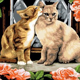 Overig Royal & Langnickel schilderen op nummer Kissing kittens (28 x 39 cm)