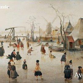 Puzzelman Puzzelman Kunstgalerij 2 - IJsvermaak (Mauritshuis) (1000)
