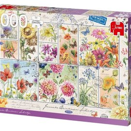 Jumbo Jumbo puzzel Flower Stamps, Summer (1000 stukjes)