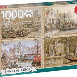 Jumbo Jumbo puzzel Anton Pieck - Boten in de Gracht (1000 stukjes)