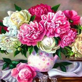 Menga trading Schilderen op nummer - Bloemen (40 x 30 cm)