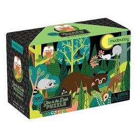 Mudpuppy Mudpuppy Glow in the dark puzzel  In het bos (100 stukjes)