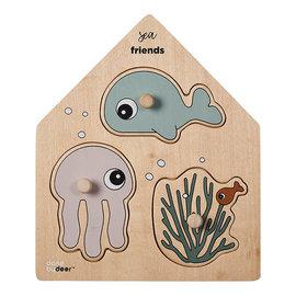Done by Deer Done by Deer - knoppuzzel Sea friends (3 stuks)