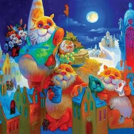 Tucker's Fun Factory Davici Houten Puzzel Volle Maanfeest-Anton Gortsevich (195)