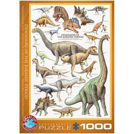 Eurographics Eurographics puzzel Dinosaurs of the Jurrassic period (1000 stukjes)