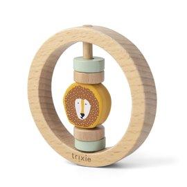 Trixie Baby Trixie Baby houten ronde rammelaar Mr. Lion
